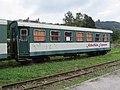 """2017-09-21 (104) Narrow gauge wagon """"Schafkäs Express"""" (before ÖBB 3200) at Bahnhof Waidhofen an der Ybbs, Austria.jpg"""