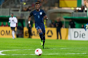 Tammy Abraham - Abraham playing for England U21 in 2017