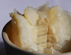 Lutefisk - A serving of lutefisk.