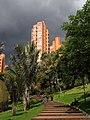 2017 Bogotá Torres del Parque desde el Parque de la Independencia.jpg