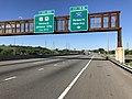 2018-07-08 09 14 37 View south along Interstate 95 (New Jersey Turnpike Eastern Spur) at Exit 15W (Interstate 280, Newark, Kearny) in Kearny, Hudson County, New Jersey.jpg