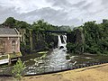 2018-07-25 08 39 25 View of the Great Falls of the Passaic River from just north of McBride Avenue within Paterson Great Falls National Historical Park in Paterson, Passaic County, New Jersey.jpg