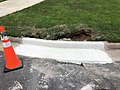 2021-07-14 14 04 07 A section of curb replaced within the prior 24 hours along Apple Barrel Court in the Franklin Farm section of Oak Hill, Fairfax County, Virginia.jpg