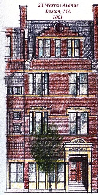 Arthur H. Vinal - Image: 23 Warren Ave Crop