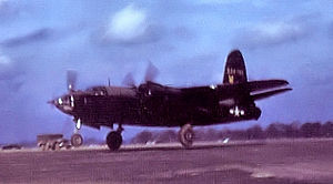 RAF Watton - Martin B-26G-1-MA Marauder painted black for night reconnaissance missions of the 654th Bomb Squadron.