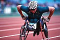 281000 - Athletics wheelchair racing Louise Sauvage action - 3b - 2000 Sydney race photo.jpg