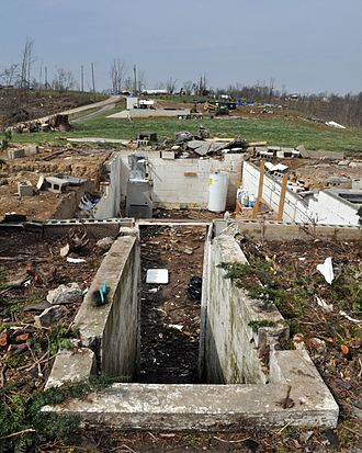 Tornado outbreak of March 2–3, 2012 - Remains of a house that was completely swept away by the Crittenden tornado.