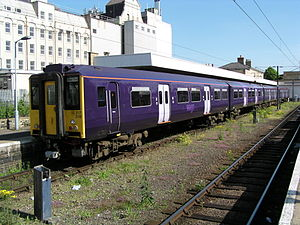 West Anglia Great Northern - Class 317 at Cambridge station in May 2004