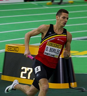 Dylan Borlée Belgian sprinter