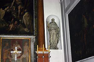 Albert of Vercelli - Statue of Albert in Madonna del Carmine, Milan.