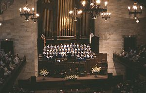 First Presbyterian Church of Hollywood - The  choir performing during a Sunday morning service, August, 1964