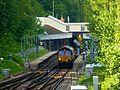 66155 at Ravensbourne Station for footbridge work (27036961585).jpg