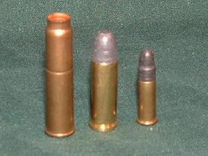 7.62×38mmR - Image: 7.62Nagant Cartridge