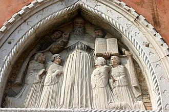Rule of St. Augustine - Image: 7395 Venezia Ex convento di S. Stefano An. padovano S. Agostino e frati (sec. XV) Foto Giovanni Dall'Orto, 12 Aug 2007