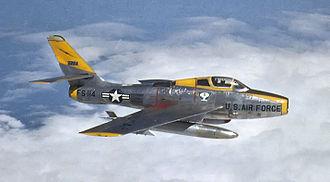 92d Cyberspace Operations Squadron - 92d TFS F-84F Thunderstreak 52-7114