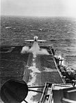 A-4E Skyhawk of VA-212 is launched from USS Bon Homme Richard (CVA-31) in March 1967.jpg