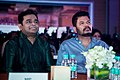 AR Rahman and Shankar at Oru Kadhai Sollattumaa Audio Launch.jpg