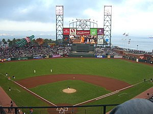 Dodgers–Giants rivalry - Image: AT&T Park April 5, 2007