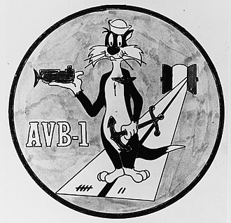 USS Alameda County (LST-32) - AVB-1's insignia