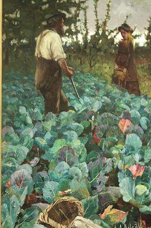 Arthur Melville - A Cabbage Garden by Arthur Melville, 1877