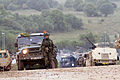 A Czech soldier prepares for a convoy during Saber Junction 2014 at the Hohenfels Training Area in Hohenfels, Germany, Sept 140902-A-ZG808-042.jpg