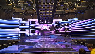 Hungary in the Eurovision Song Contest 2016 - The studio of A Dal 2016 in the MTVA headquarters building