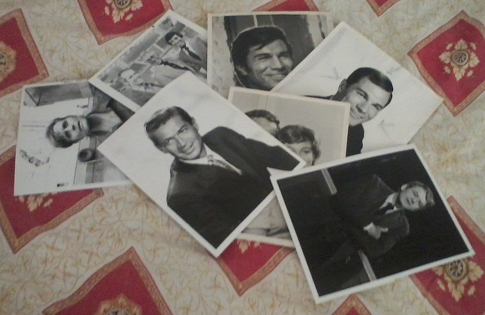 A pile of photos on the blanket