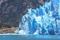 A quick visit to Perito Moreno Glacier - at this point the glaciers advances dam Lago Argentina, sometimes creating a 20 or 30 m difference in lake levels that collapses every couple of years - (24819603769).jpg