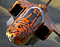 A specially painted Jaguar aircraft takes to the skies over RAF Coningsby for a final flight MOD 45148743.jpg