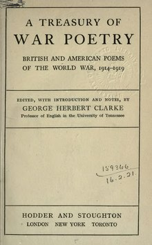 A treasury of war poetry, British and American poems of the world war, 1914-1919.djvu