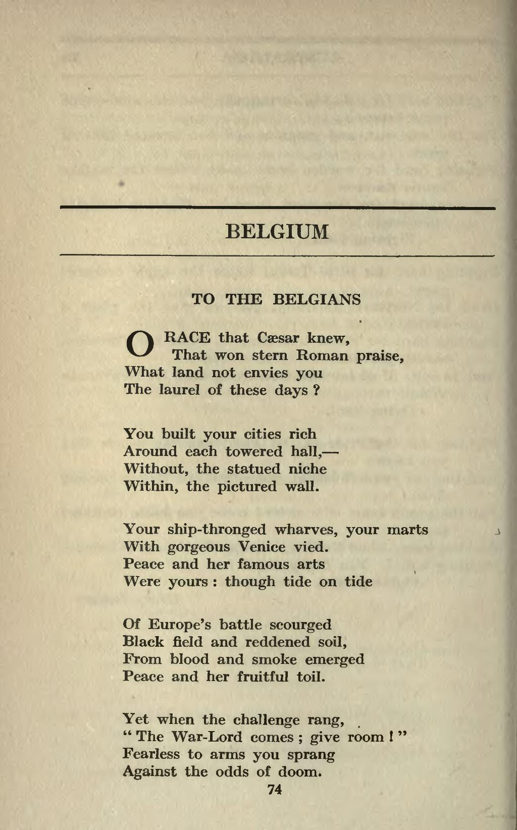 Pagea Treasury Of War Poetry British And American Poems Of