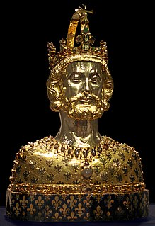 reliquary in the form of the bust of Charlemagne