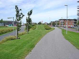 Aars - The decommissioned railway has now been repurposed as the pathway Himmerlandsstien