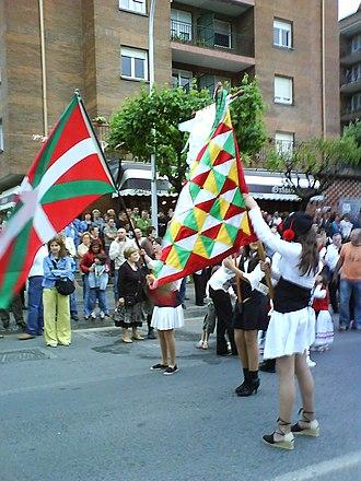 Ikurriña - Image: Abadiño bandera 2