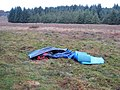 Abandoned tent on Kirkwhelpington Common - geograph.org.uk - 595214.jpg