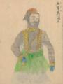 Abdulaziz by Japanese doctor Takahashi Yūkei 1862.png