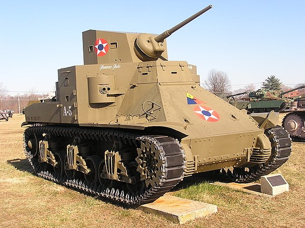 The M2A1 medium tank was the first of its kind in the USA.