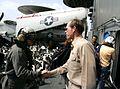 Aboard the U.S. aircraft carrier Eisenhower.jpg