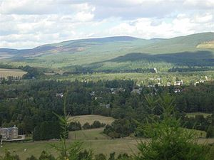 "Aboyne - Aboyne as seen from the ""Fungle"" footpath."