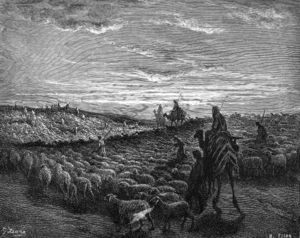 Abram Journeying into the Land of Canaan (engr...