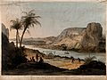 Abu Simbel; two temples seen from across the Nile river. Col Wellcome V0014703.jpg