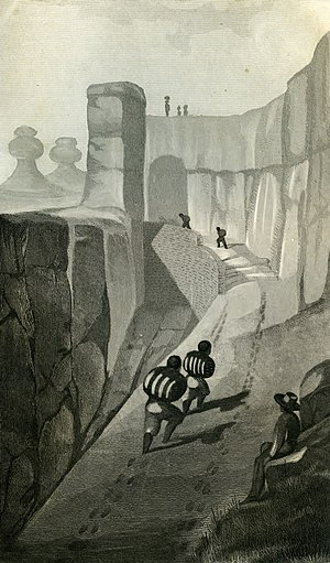 James William Abert - Painting of the trail to Acoma Pueblo by J.W. Abert, 1848