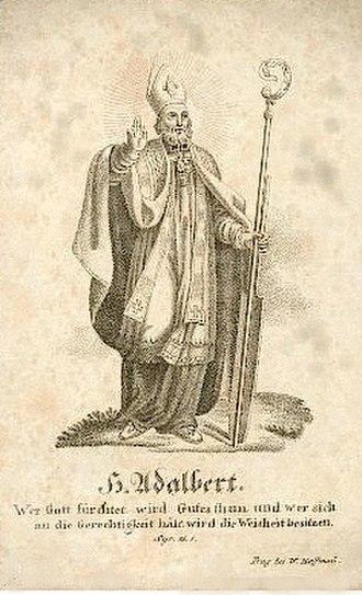 Adalbert of Magdeburg - Holy Card for St. Adalbert of Magdeburg