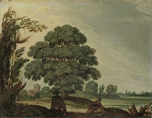 Adam Elsheimer - Landschap met de barmhartige Samaritaan - SK-A-2650 - Rijksmuseum