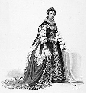 Adelaide Ristori - Image: Adelaide Ristori in Paolo Giacometti's Elisabetha regina d'Inghilterra