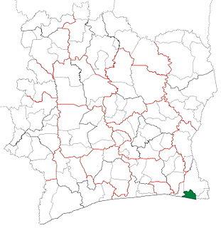 Adiaké Department Department in Comoé, Ivory Coast