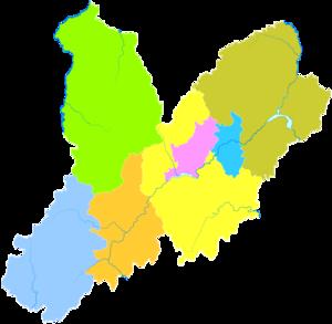 Chaoyang, Liaoning - Image: Administrative Division Chaoyang