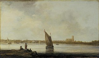 View of Dordrecht from the Maas