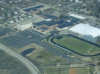 Hononegah Community High School - Image: Aerial view of Hononegah High School, Rockton, Illinois 20080405