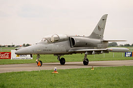 Aero L-159 of Czech Air Force (reg. 6061), taxiing, Radom AirShow 2005, Poland.jpg